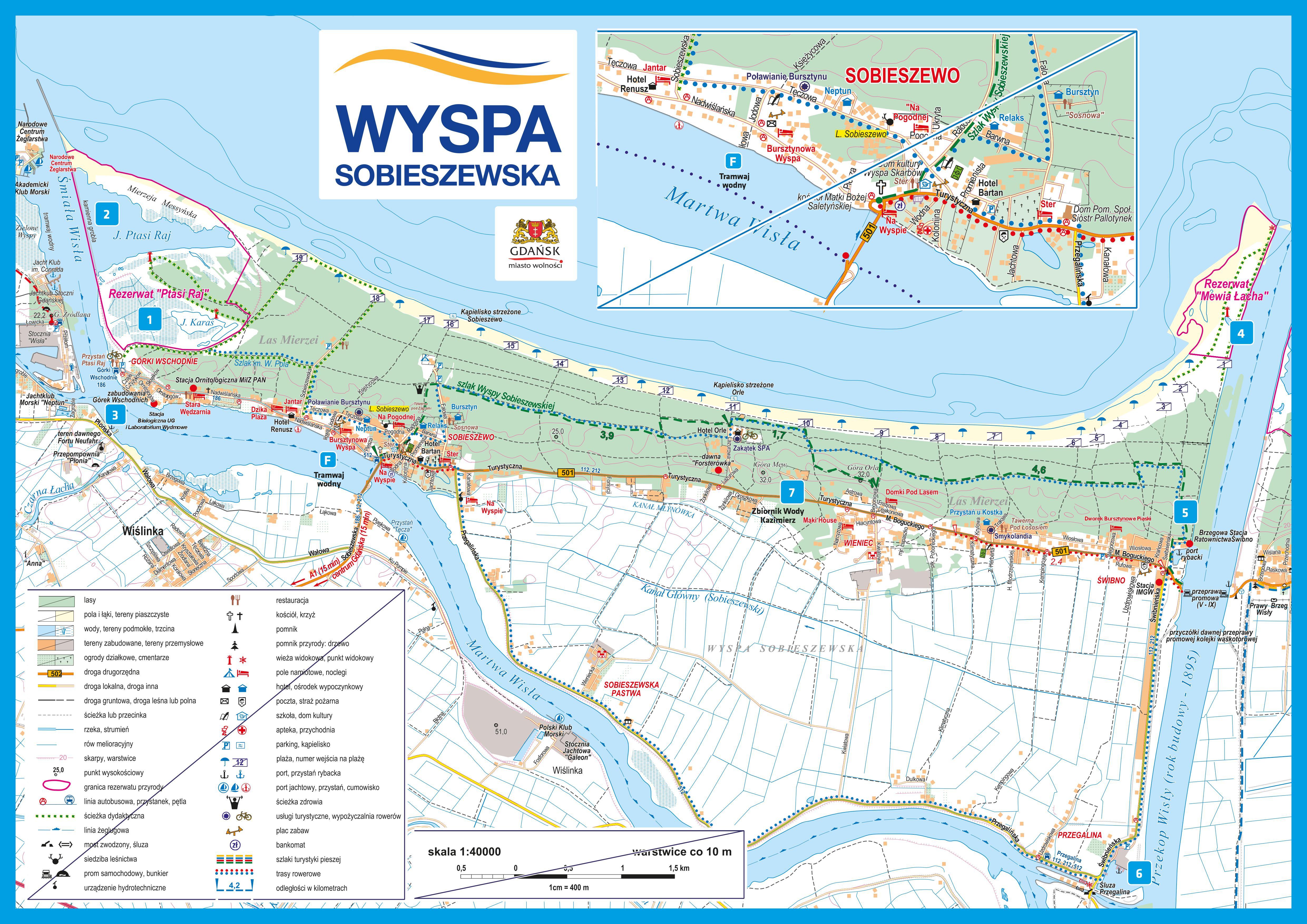 Mapa Sobieszewo - Wyspa Sobieszewska